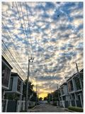 Cloudy. Evening before sunset at home village Stock Photography