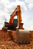 Cloudy Excavator Royalty Free Stock Photo