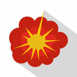 Cloudy explosion icon, flat style. Cloudy explosion icon. Flat illustration of cloudy explosion vector icon for web Stock Photography