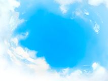 Cloudy frame Stock Photos