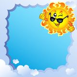 Cloudy frame with Sun 3 Stock Image