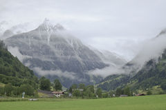 Cloudy Fusch valley near Gross Glockner, Austria Royalty Free Stock Images