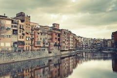Cloudy Girona Royalty Free Stock Photos