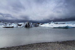 Cloudy glacier edge in Iceland Stock Images