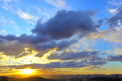 Cloudy golden sunset at Pretoria Royalty Free Stock Images