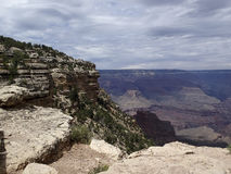 Cloudy Grand Canyon Royalty Free Stock Photo