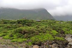 Cloudy green mountain Stock Image
