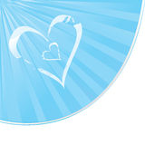 Cloudy Heart shapes Stock Photography