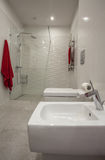 Cloudy home - bathroom Royalty Free Stock Images