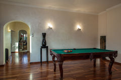 Cloudy home - Billiard. Cloudy home - Place for pastime- table for billiard Royalty Free Stock Photos