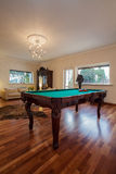 Cloudy home - billiard table Stock Photos