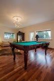 Cloudy home - billiard table. Cloudy home - classic billiard table in stylish house Stock Photos