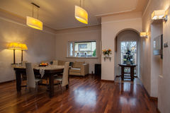 Cloudy home - Elegant interior. Cloudy home - Elegant bright living room interior Stock Photo