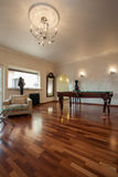 Cloudy home - elegant living room. With billiard table Royalty Free Stock Photography
