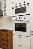 Cloudy home - oven and microwave. Cloudy home - kitchen appliances- oven and microwave Royalty Free Stock Photos