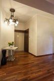 Cloudy home - Wooden corridor. Cloudy home - Corridor with wooden floor, nobody Stock Photos