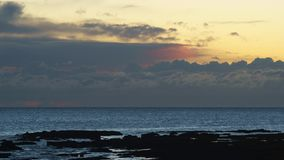 Cloudy Horizon Over the Sea Time Lapse at Dusk stock footage