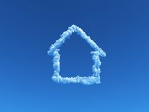 Cloudy house Royalty Free Stock Photography