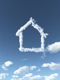 Cloudy house Royalty Free Stock Images