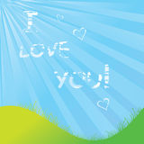 Cloudy I Love You Royalty Free Stock Images