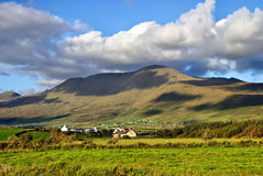 Cloudy irish mountains Stock Photos
