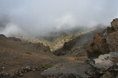 Cloudy Island La Palma Stock Photos