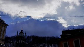 Cloudy in Kiev stock photos