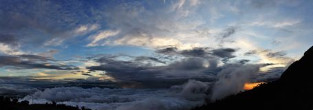 Cloudy Kinabalu Stock Photo
