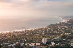 Cloudy La Jolla Cove Landscape at Sunset - Horizontal stock photography