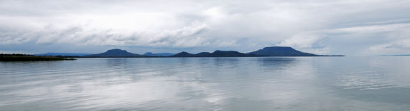 Cloudy Lake Balaton, Hungary Stock Photo