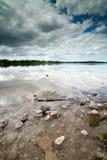 Cloudy lake reflection. Cloudy sky Irish lake reflection royalty free stock images