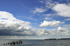 Cloudy landscape. Sea and cloudy sky Stock Image