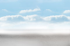 Cloudy landscape background Stock Images