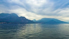 Cloudy landscape of Como Lake. Bellagio town, Italy. Cloudy landscape of Como Lake naer Bellagio town, Italy. Time Lapse stock footage