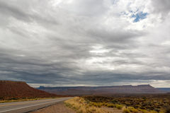 Cloudy Landscape outside of Zion Stock Photo