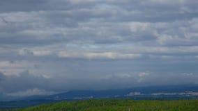 Cloudy landscape timelapse 60x. Speedup stock video