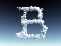 Cloudy letter B Royalty Free Stock Image