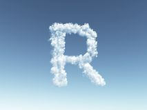 Cloudy letter R Royalty Free Stock Image