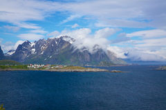Cloudy Lofoten islands Stock Photography