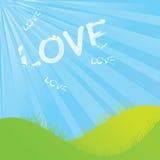 Cloudy Love shapes. Landscape vector illustration Stock Images
