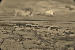 Cloudy Low tide Stock Photos