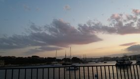 Cloudy Malta. Sliema in the afternoon sunset Stock Image