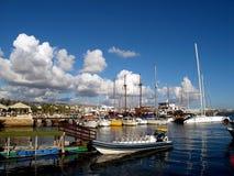 Cloudy Marina Stock Photo