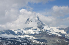 Cloudy Matterhorn peak, Switzerland Royalty Free Stock Image