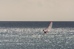 Cloudy mediterranean sea for sailing Royalty Free Stock Photography