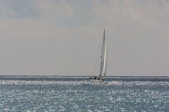 Cloudy mediterranean sea for sailing Stock Image