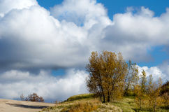 Cloudy midwest landscape Royalty Free Stock Photos