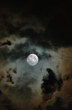 Cloudy Moon. Partially Clouded Moon Royalty Free Stock Images