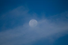 Cloudy moon Stock Photo