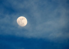 Cloudy moon Stock Photography
